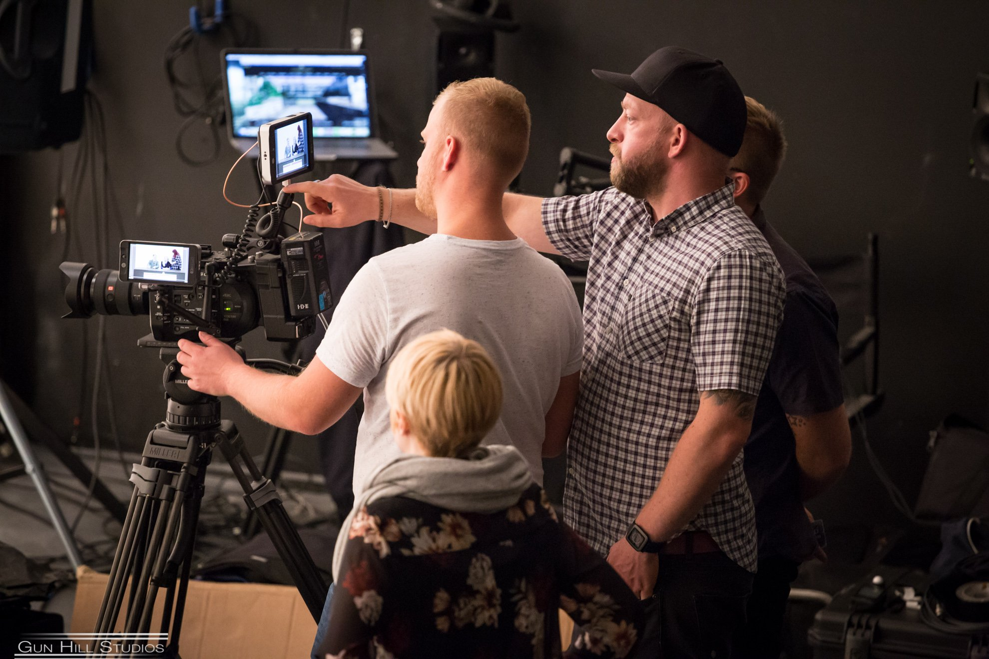 RMV Productions Team on set for Tom Prior